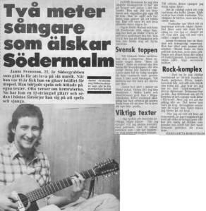 Janne Svensson, artikel i Södernytt