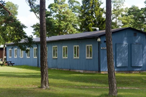 En av barackerna som tillhörde Lärbro öppna anstalt